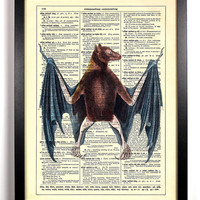 Fruit Bat Winged Creature Halloween Upcycled by StayGoldMedia
