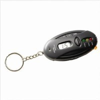 Breathalyzer Keychain Car Gadget - Flashlight + Stopwatch