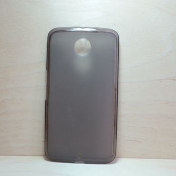 For Google Nexus 6 Grey Soft TPU translucent Color Case Protective Silicone Back Case Cover