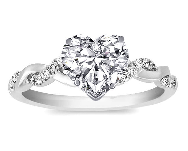 engagement ring heart shape diamond from mdc diamonds