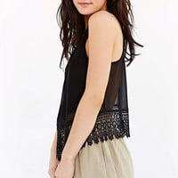 Glamorous Cut-In Crochet-Trim Tank Top - Urban Outfitters