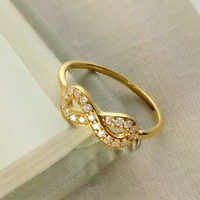 Gold Infinity Ring, Best Friend Gift, Sister Gift, Birthday Gift