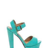On The Catwalk Faux Leather Heels