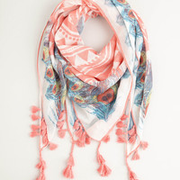 Charismatic Confidence Scarf in Pink   Mod Retro Vintage Scarves   ModCloth.com