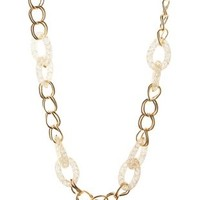 Beaded Link Chain Necklace by Charlotte Russe - Gold
