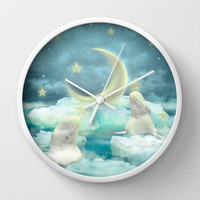 Guard Your Heart. Protect Your Dreams. (Beluga Dreams) Wall Clock by Soaring Anchor Designs