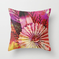 sew a button Throw Pillow by Haroulita