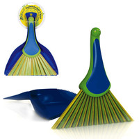 PEACOCK DUSTPAN & BRUSH