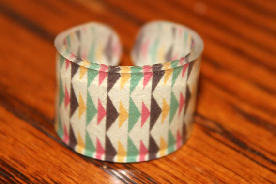 Size 9 Small Colorful Tribal Arrow Ring Size by kaykreationsphoto
