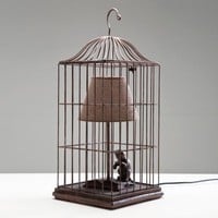 NEW! Cat in a Cage Table Lamp