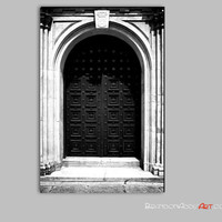 Door Photograph, Black and White Photography, Foyer Wall Art Photography Print