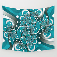 Playful Graphic Fractal Wall Tapestry by Gabiw Art