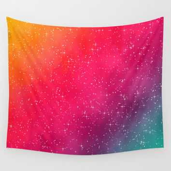 Colorful Galaxy Wall Tapestry by Texnotropio