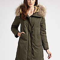 Theory - Fur-Trimmed Hooded Parka - Saks Fifth Avenue Mobile