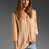 Joie Venicia Twill Shirting Top in Bisque from REVOLVEclothing.com
