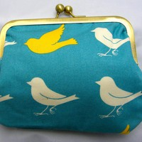 "6"" Fabby Purse - White & Yello.. on Luulla"