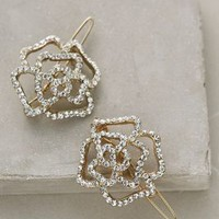 Winding Rose Clip Set by Anthropologie Silver One Size Hair