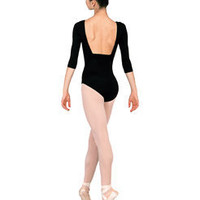3/4 Sleeve Pinched Front Leotard - Style #N8105 at Discount Dance Supply