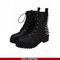 Rivet army boots