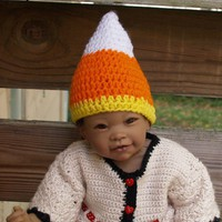 Candy Corn Hat - 0 to 3 months sized