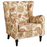 Claudio Wing Chair- Jacobean