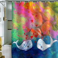 DENY Designs Home Accessories | Sophia Buddenhagen I Whale Always Love You Shower Curtain