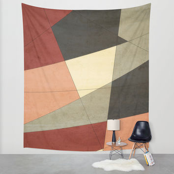 Vintage Patchwork Wall Tapestry by DuckyB (Brandi)