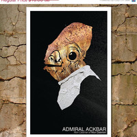 Star Wars Science Fiction Movie Poster: Admiral Ackbar Character Portrait
