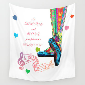 In Dance And Love Wall Tapestry by Heaven7