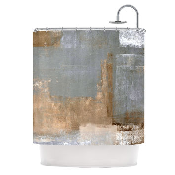 "CarolLynn Tice ""Gifted II"" Brown Gray Shower Curtain"
