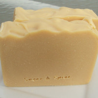 Natural Soap Slice with Goats Milk, Shea Butter, Cocoa Butter and Pure Silk Soap Slice  / cold process soap