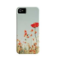 iPhonne 5 Case- Poppy flower print, iPhone Hard Case, Accessories For iPhone, Flowers, Girly, Feminine, iPhone 5