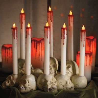 Martha Stewart Skull Pile Candleholder