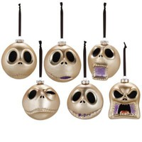 Faces of Jack Skellington Ornament Set -- 6 Pc. | Ornaments | Disney Store