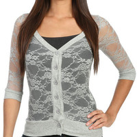 All Over Lace Cardigan | Shop Tops at Wet Seal