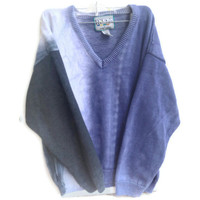 Ombre Dyed Knit Jumper Sweater Pull Over Size Medium
