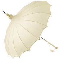 Ivory Giselle Pagoda Bridal Umbrella by Chrysalin