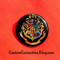 Hogwarts School Crest Flair 125in pinback by CustomCuriosities