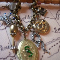 Harry Potter Horcrux Charm Bracelet All 7 horcrux's by 1luckysoul