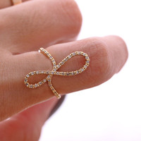 sideways INFINITY ring, in gold | girlsluv.it - handmade jewelry collection, ETSY, Artfire, Zibbet, Earrings, Necklace