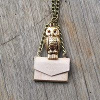 Harry Potter &#x27;Owl Post&#x27; Locket Necklace Owl by ChanceryLane