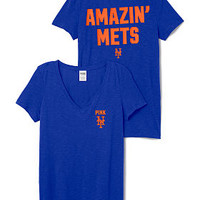 New York Mets V-Neck Tee - PINK - Victoria's Secret