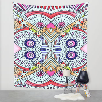 Fiesta Wall Tapestry by DuckyB (Brandi)