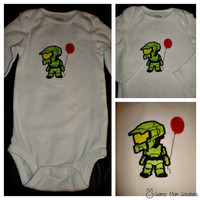 Halo Master Chief appliqued Onesuit or shirt