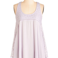 ModCloth Boho Mid-length Racerback Have a Crepe Day! Top