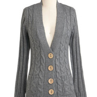 Your Fireside of the Story Cardigan in Charcoal | Mod Retro Vintage Sweaters | ModCloth.com