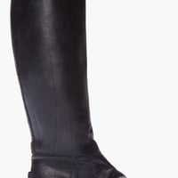 Golden Goose Black Leather Stud Toe Riding Boots for Women | SSENSE