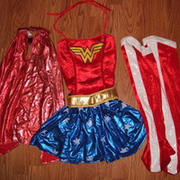 AWESOME Women's XS/S Wonder Woman Halloween Costume-EUC!!!!