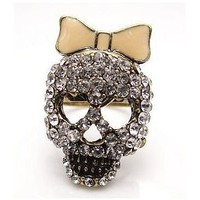 Little Bow Skull Ring - the85stylePeople