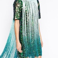 ASOS T-shirt Sequin Fringe Dress